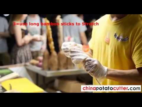 how to fast make Tornado potato or spiral potato street food twist potato
