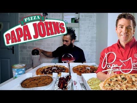 The Papa John's BIG ONE Challenge (9600 Calories of Take Out Pizza Heaven)