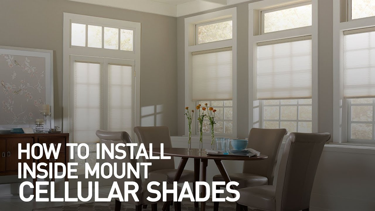 How To Install Inside Mount Cellular Shades Youtube
