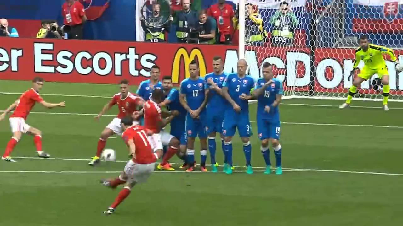 gareth bale free kick goal euro 2016 youtube