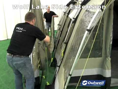 How to pitch the Outwell Wolf Lake Side Extension & How to pitch the Outwell Wolf Lake Side Extension - YouTube