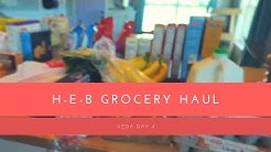 H-E-B HUGE GROCERY HAUL || VEDA Day 4