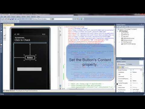 Write Apps for Windows Phone 7 -  Introduction to Cell and Mobile App Software Development Tutorial