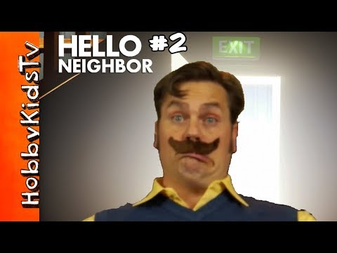 Real Life Hello Neighbor! Alpha 1 to End Walkthrough with HobbyPig Part 2 HobbyKidsTV