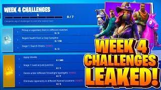 Week 4 Challenges LEAKED! Fortnite Season 6 Week 4 ALL CHALLENGES! (Battle Pass)