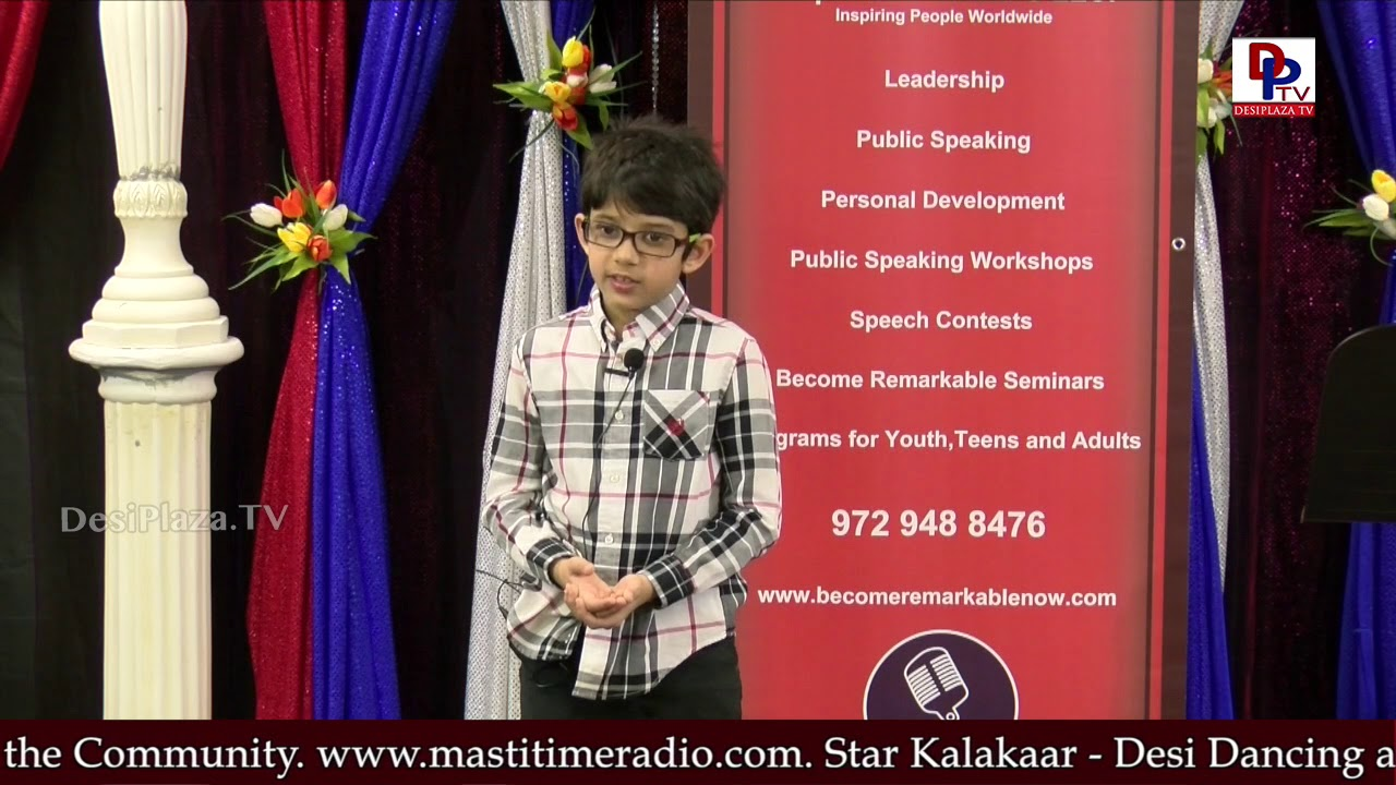 "Kid narrates ""Unity is Strength"" story at Talking Bee - Public Speaking Competitions 2018 