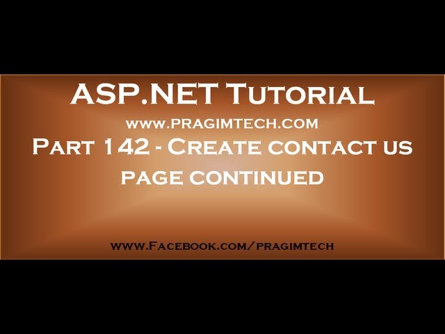 Contact us page using asp net and c# continued   Part 142