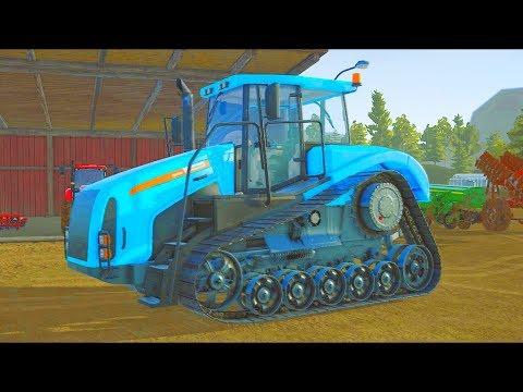 Мультики про гусеничный Синий #Трактор Как сажают картошку! #Ферма Развивающие Мультфильмы для детей - Видео приколы смотреть