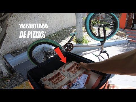 REPARTIENDO PIZZAS EN BMX POR UN DÍA *Nuevas Modificaciones A La MTB*