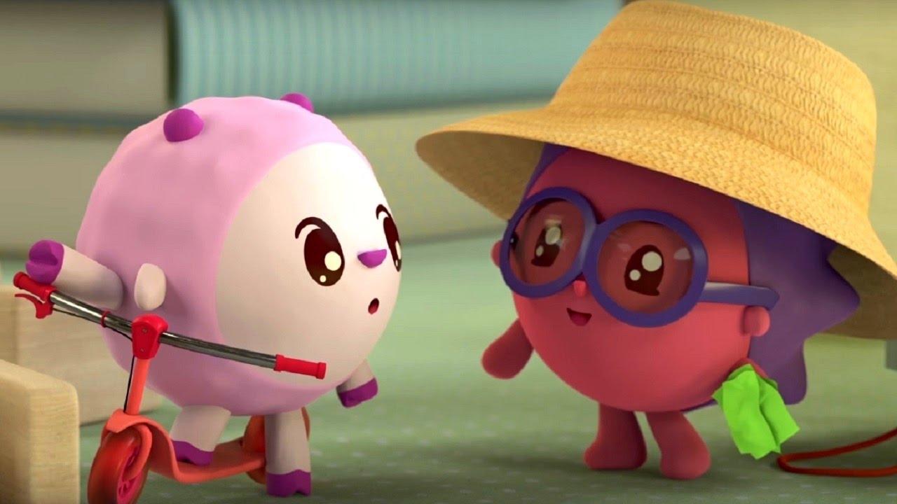 Малышарики - Ферма - серия 75 - обучающие мультфильмы для малышей 0-4 - плаванье