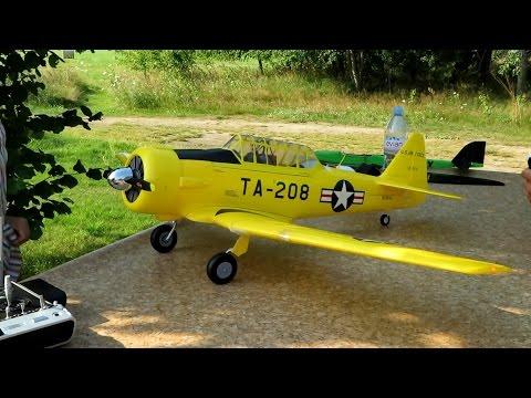 RC North American T-6 Texan , maiden flight , Erstflug , Presentation *HD*