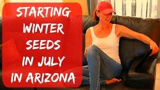 How To Plant Tomato & Pepper Seeds Indoors - Arizona Desert Organic Vegetable Garden