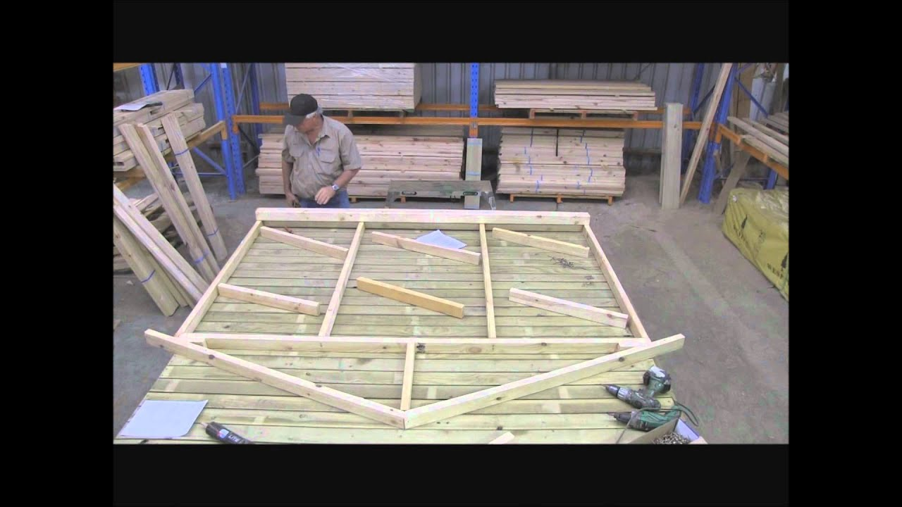 Cubbykraft how to make a cubby house timber frame part 3 for How to build a floor for a house