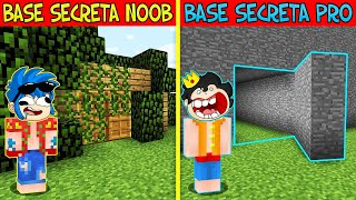 NOOB VS PRO VS BASE SECRETA 😱😂 CONSTRUIMOS LA MEJOR BASE SECRETA DE MINECRAFT