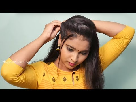 5 Beautiful hairstyle for Party /Wedding or function | party hairstyles | self hairstyles #hairstyle thumbnail
