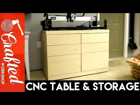 DIY CNC Table & Tool Storage Cabinet | How-To Build