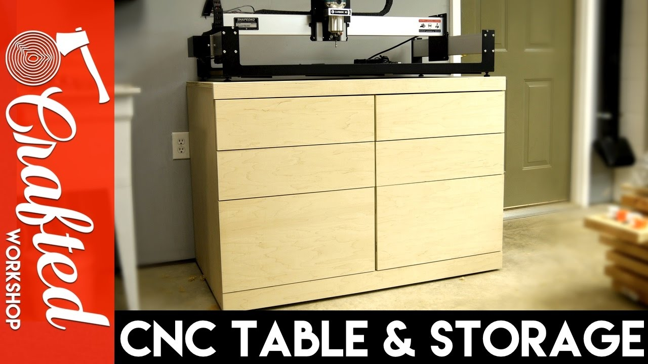 Diy Cnc Table Tool Storage Cabinet How To Build Youtube