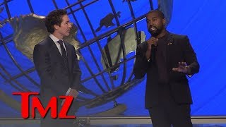 Kanye West Defends Joel Osteen from the Pulpit at Lakewood Church