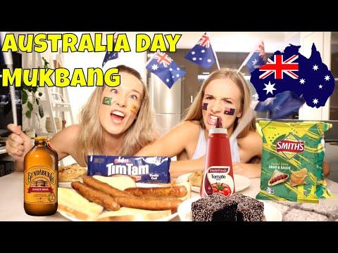 AUSTRALIA DAY MUKBANG SPECIAL | WHAT AUSTRALIANS EAT | MUKBANG SISTERS