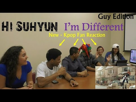 HI SUHYUN - I'M DIFFERENT - NEW KPOP Fan Reaction - Guy Edition