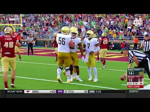 Notre Dame Football vs  Boston College Highlights