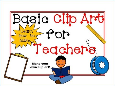 How to Make Basic Clip Art Tutorial for Teachers! (PowerPoint)