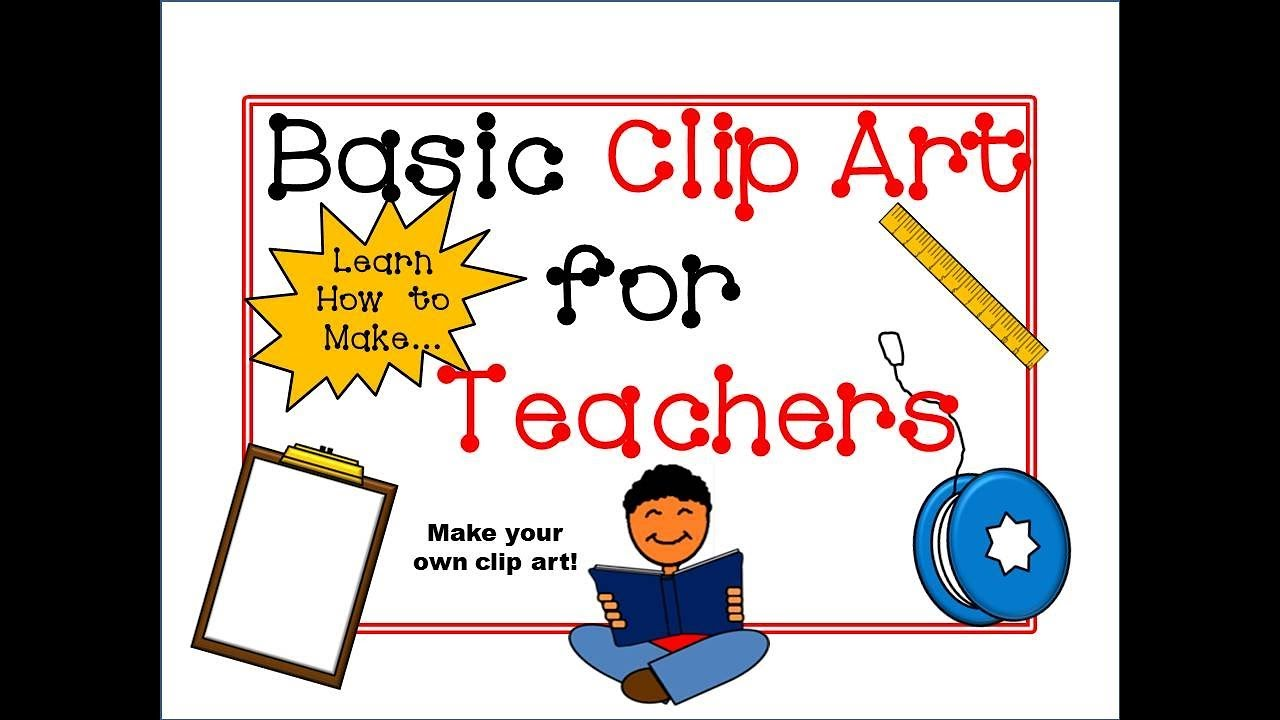 how to make basic clipart tutorial for teachers powerpoint youtube rh youtube com Create Own Clip Art how to make your own clipart on mac
