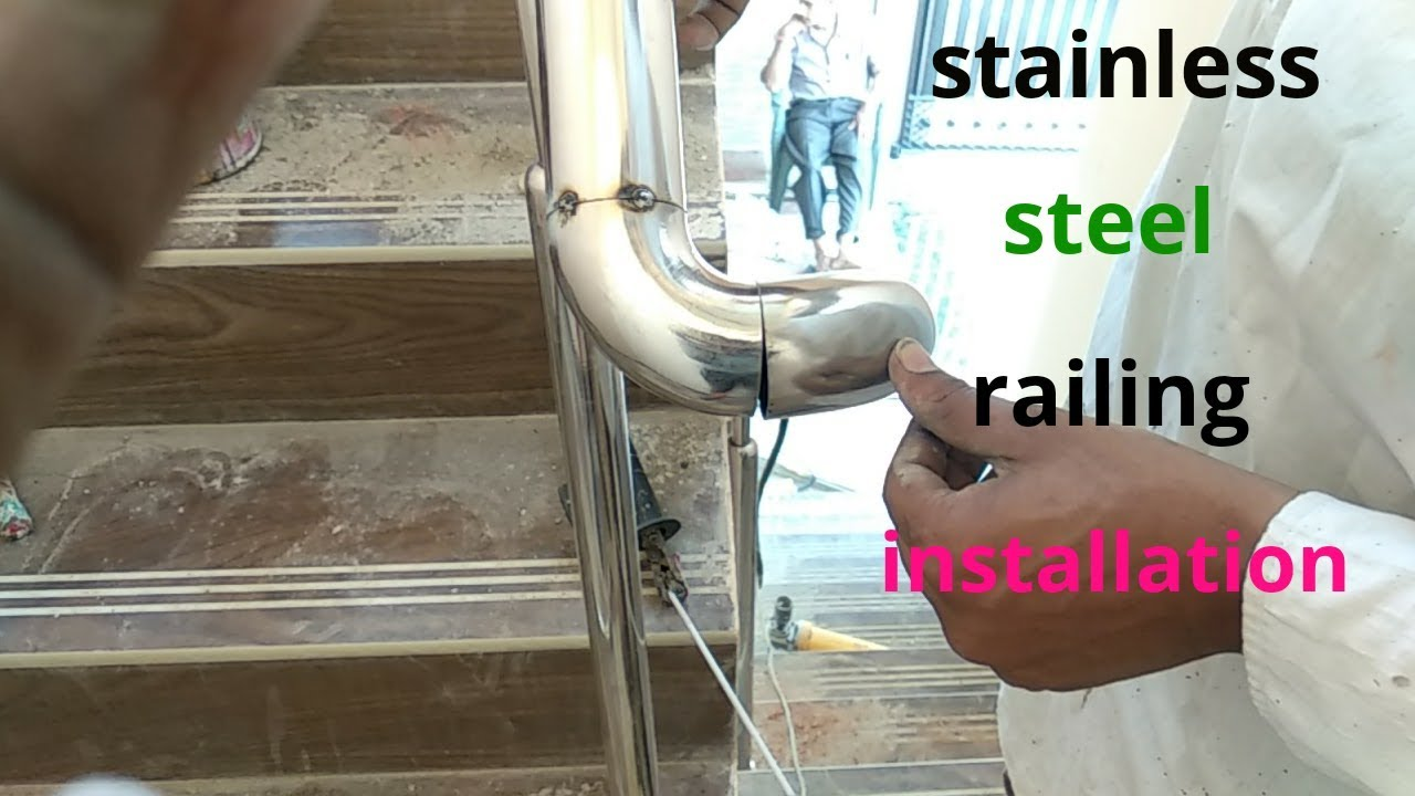 stainless steel design for railing || How to install ...