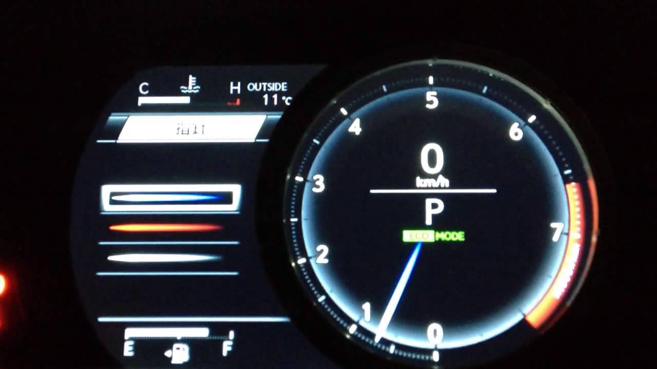 Lexus Rx F Sport >> New Lexus IS F-SPORT 可動式液晶メーター - YouTube