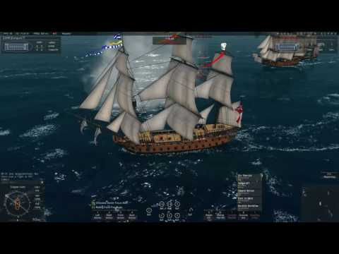 Naval Action] British Fleet vs Pirates Renomee North From Port Antonio (PvP) | Oct 4, 2016