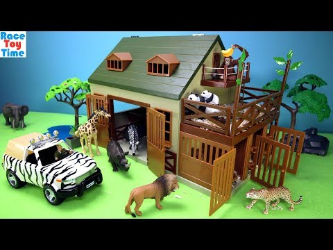 Terra Battat Animal Care Playset - Building plus animal toys