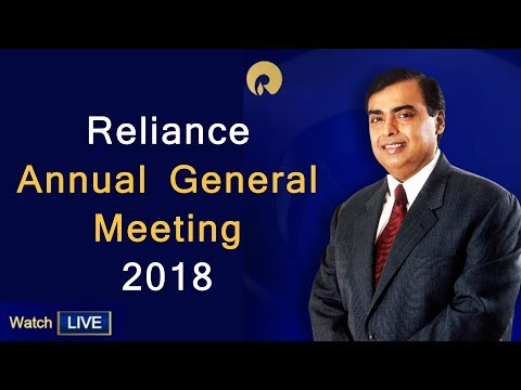 Reliance Annual General Meeting 2018 - 41st AGM