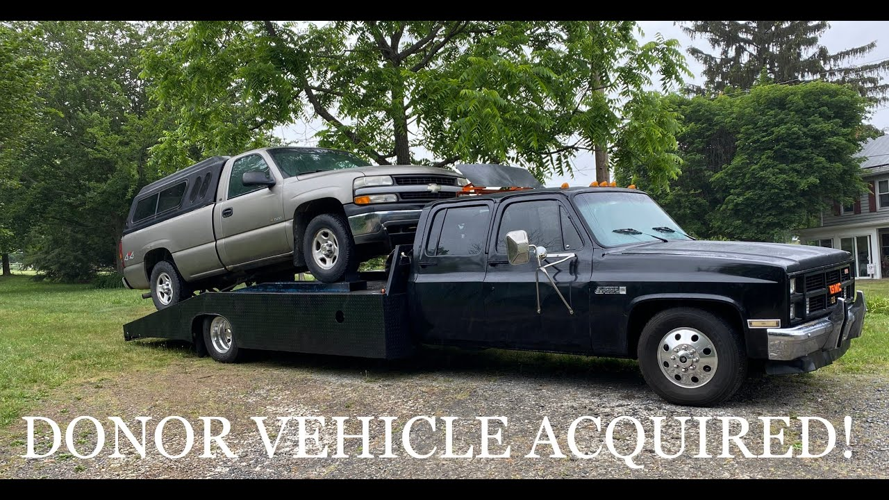 XJ DONOR TRUCK IS HERE!  V8 JEEP CHEROKEE BUILD