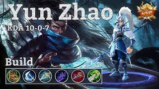 Mobile Legends: Yun Zhao MVP, Assassin Fighter Build!