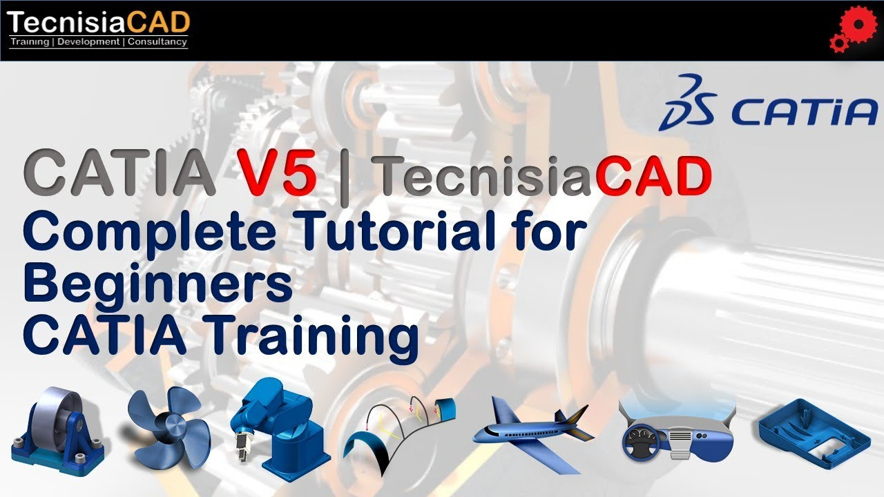 complete tutorial for beginners catia v5 youtube rh youtube com CATIAV5 Drawings with Dimensions CATIAV5 Courses