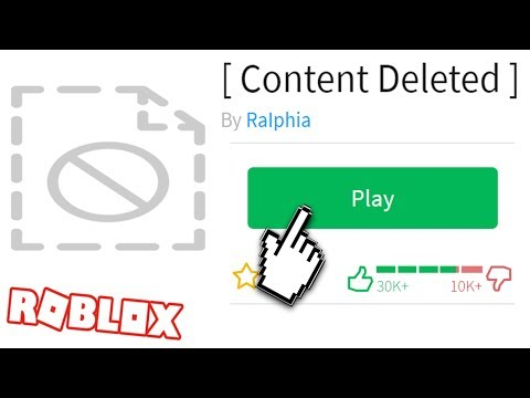 PLAYING SECRET DELETED ROBLOX GAMES