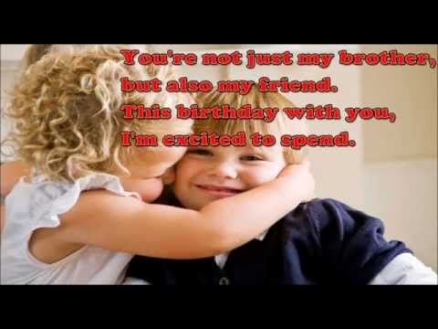 Happy Birthday Brother, Sweet and cute Birthday wish for Brother, Birthday video greetings