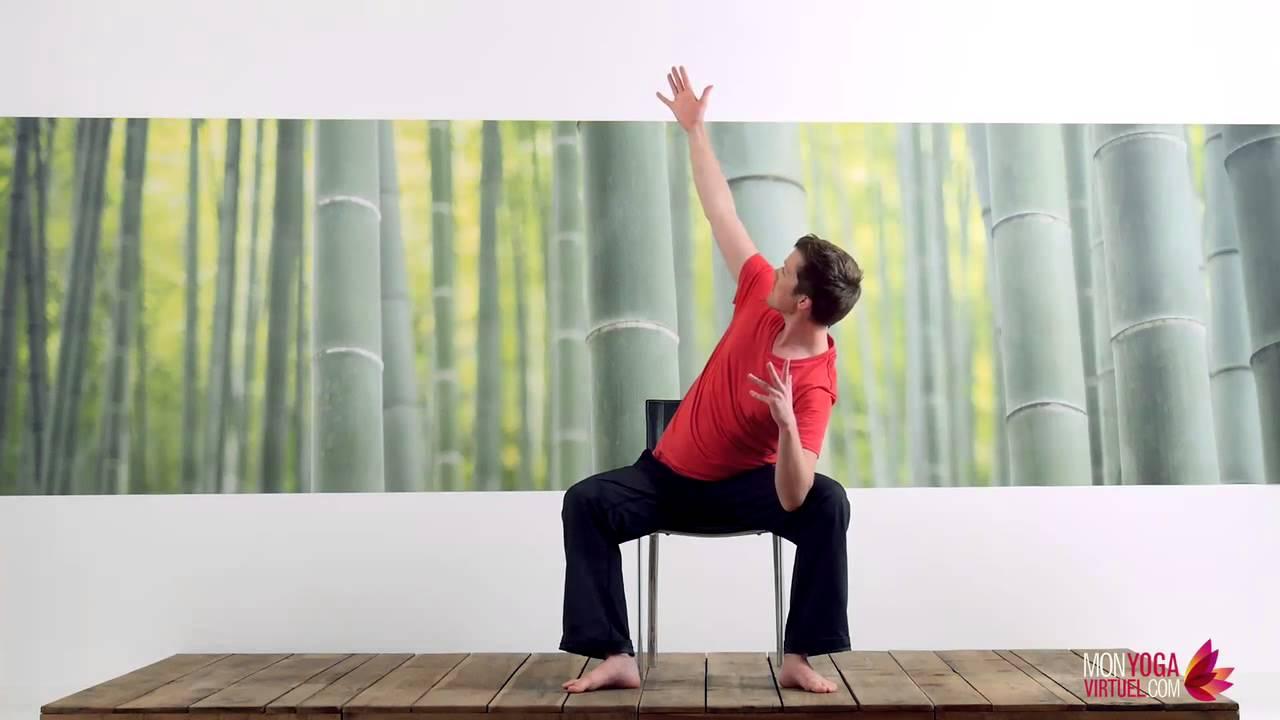 pratique hatha yoga sur chaise 30 avec brian tuck mon yoga virtuel youtube. Black Bedroom Furniture Sets. Home Design Ideas