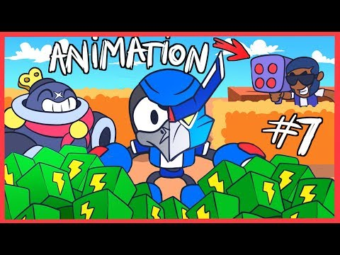 [#7] BRAWL STARS ANIMATION - CROW and TICK VS TEAMING (MECHA)