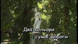 ДВА КОЛЬОРИ — караоке Українська народна пісня Ukrainian folk song karaoke