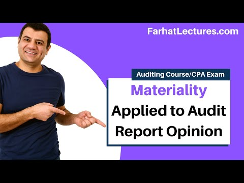 Materiality Applied to Audit Report Opinion | Auditing and Attestation | CPA Exam