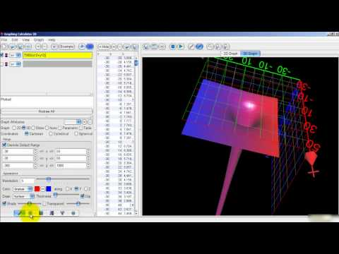 Create A 'General Relativity' Type Mathematical Singularity Using 3D Graphing Software...