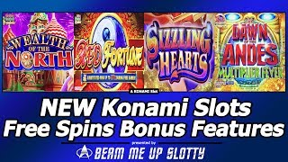 Video New Konami Slot Bonuses - Wealth of the North, Red Fortune, Sizzling Hearts and more download MP3, 3GP, MP4, WEBM, AVI, FLV Juli 2018