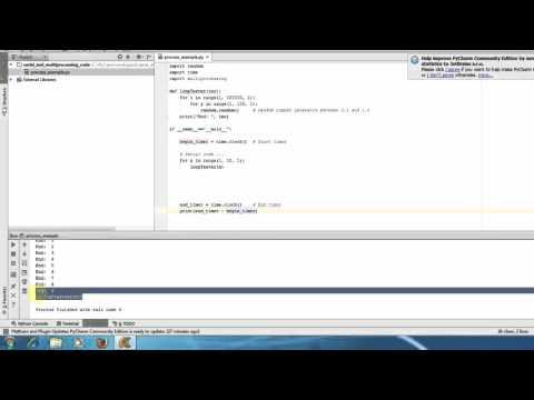 Python Advanced Tutorial - Multiprocessing VS Serial code performance