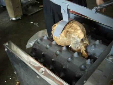 Remove Broken Bolt >> COCONUT HUSK REMOVER (De-husking) MACHINE - YouTube
