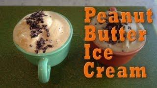 Peanut Butter Ice Cream: Organic Vegan Dessert Recipe