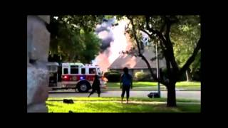 Residential House Fire Backdraft Explosion Pre-Arrival