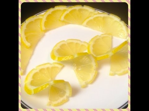 How to make Lemon Twist for Food Plating. Food Decoration. Plating Garnishes. Food Presentation