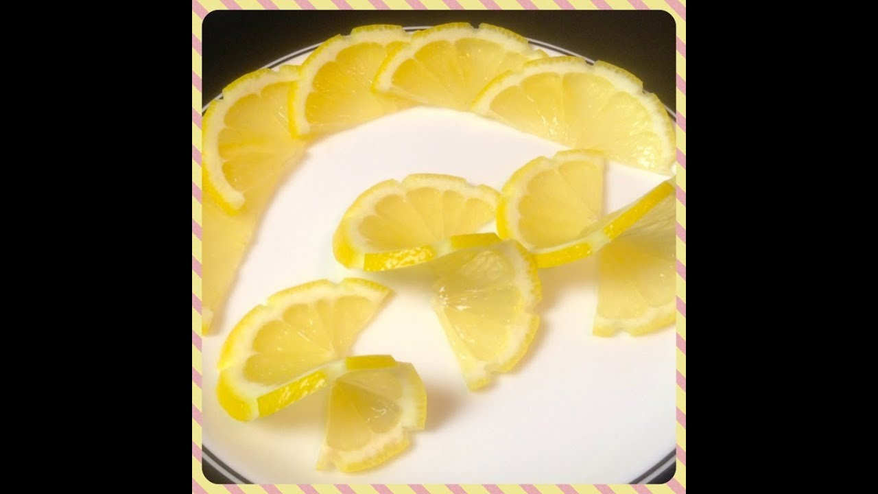 How to make Lemon Twist for Food Plating Food Decoration