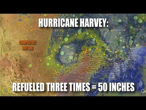 Hurricane Harvey: Refueled Three Times = 50 Inches